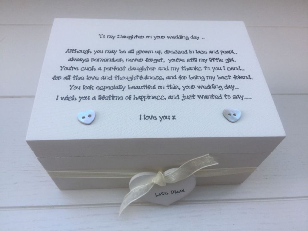 Gifts On Wedding Day For Bride: Shabby Personalised Chic Daughter On Her Wedding Day Gift